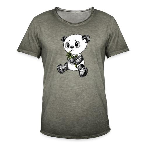 Panda bjørn farvet scribblesirii - Herre vintage T-shirt