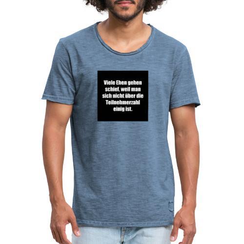 Die Ehe - Männer Vintage T-Shirt