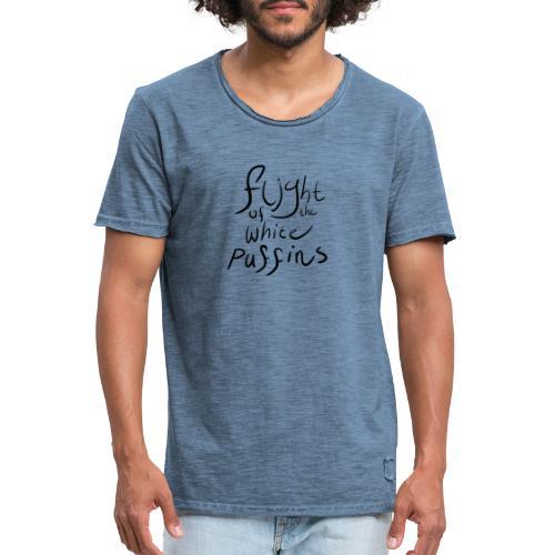 Flight of the White Puffins - Mannen Vintage T-shirt