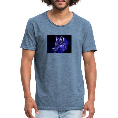 jeff wolf - Vintage-T-skjorte for menn