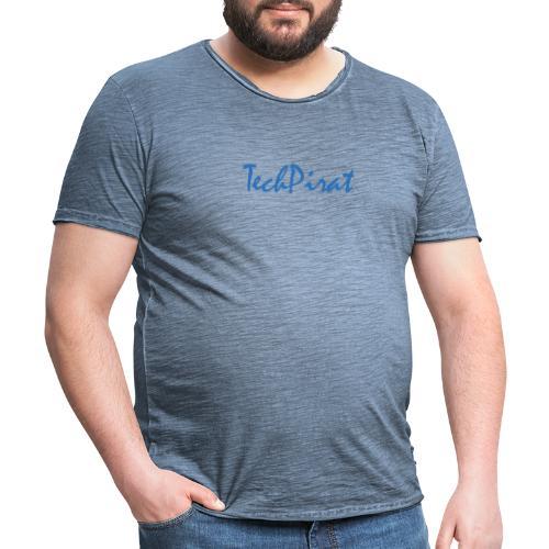 TechPirat blau - Männer Vintage T-Shirt