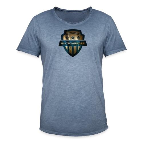 logoplatscherbossNEUHUGO png - Männer Vintage T-Shirt