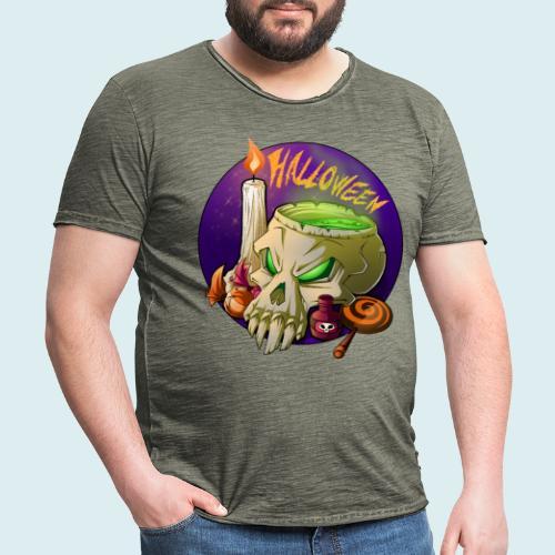 halloween - Maglietta vintage da uomo