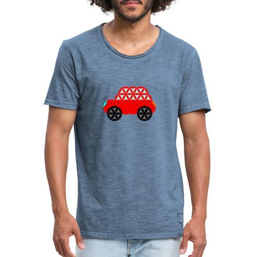 The Car Of Life - M01, Sacred Shapes, Red/R01. - Men's Vintage T-Shirt