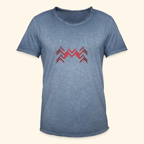 Lineas burdeos - Camiseta vintage hombre