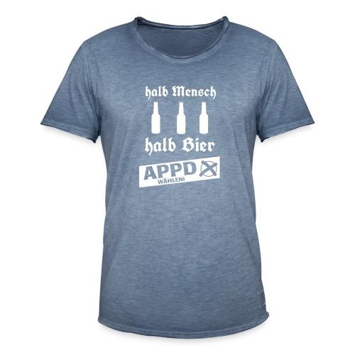 Halb Mensch halb Bier2 - Männer Vintage T-Shirt