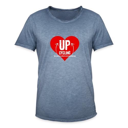 upcycling ist eine Lebenseinstellung - Männer Vintage T-Shirt