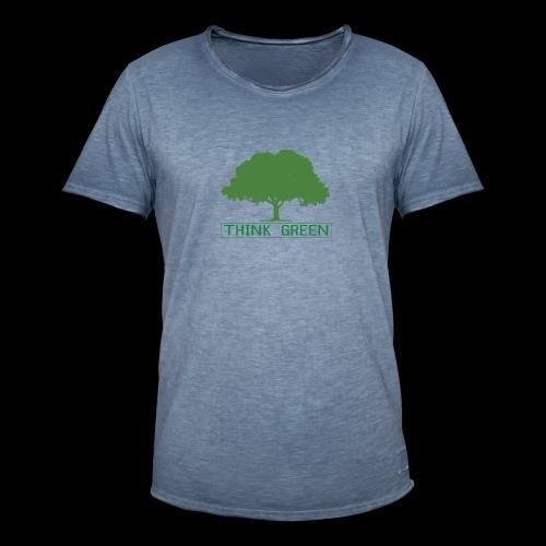 think green - Camiseta vintage hombre