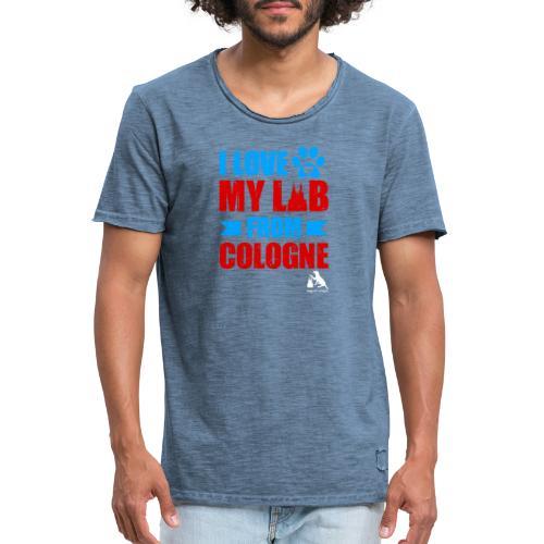 I love my LAB from COLOGNE! - Männer Vintage T-Shirt