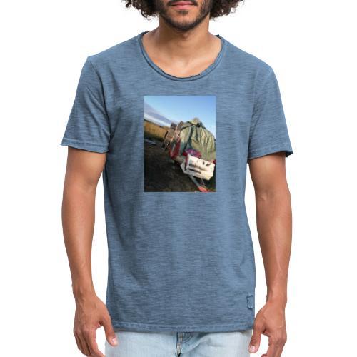 Kläder med vagnen på - Vintage-T-shirt herr
