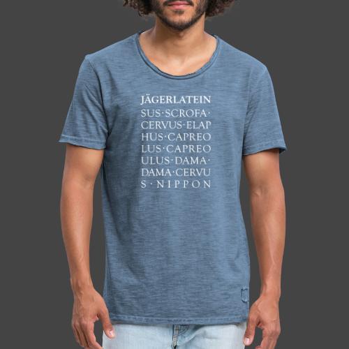 """""""Jägerlatein""""-Shirt für Jäger und Jägerinnen - Männer Vintage T-Shirt"""