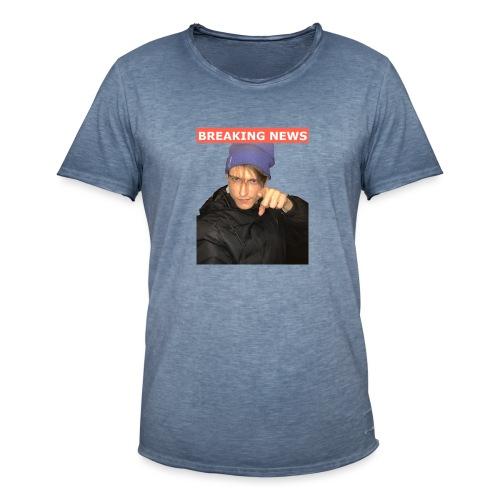 Breaking News - Herre vintage T-shirt