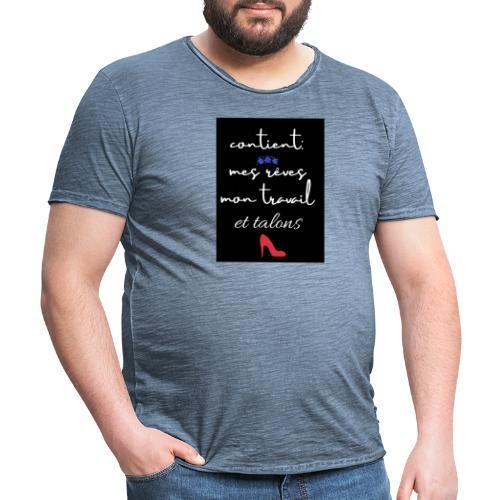et talons - Camiseta vintage hombre