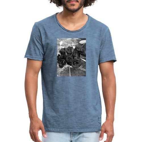 Roses - Herre vintage T-shirt