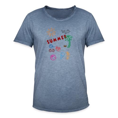Summer - Miesten vintage t-paita