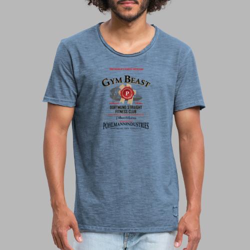 GYM BEAST - Männer Vintage T-Shirt