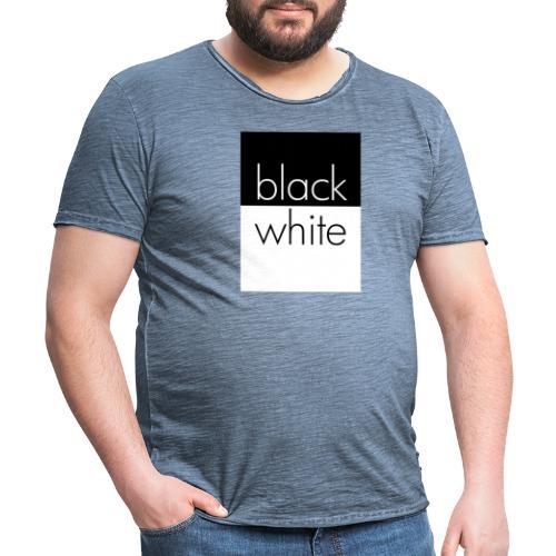 black and white - Männer Vintage T-Shirt