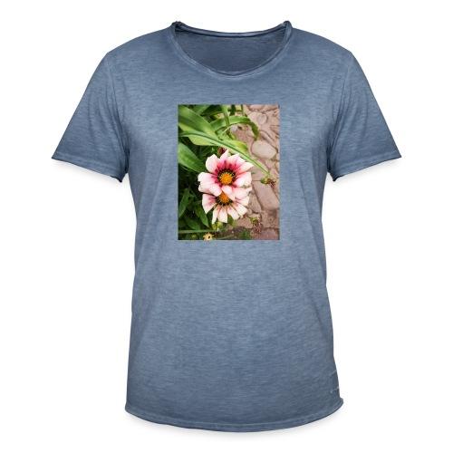 FLORES ROSAS - Camiseta vintage hombre