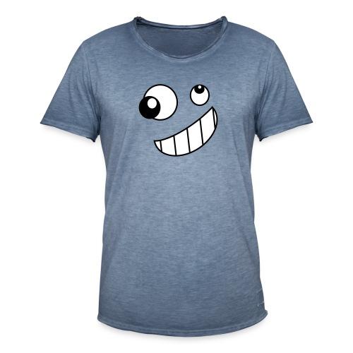 funky face - Mannen Vintage T-shirt