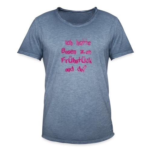 Frühstück - Männer Vintage T-Shirt