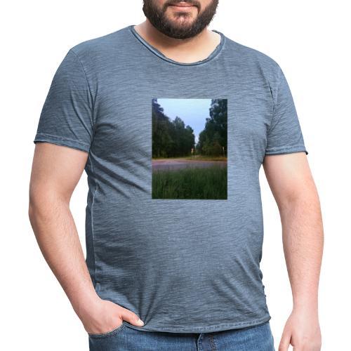 Måneveien - Vintage-T-skjorte for menn