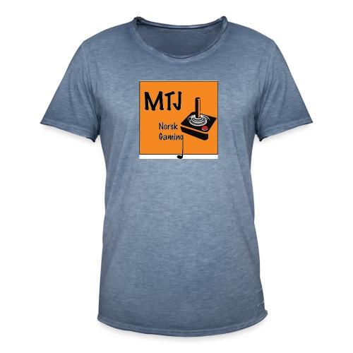 Mtj Logo - Vintage-T-skjorte for menn