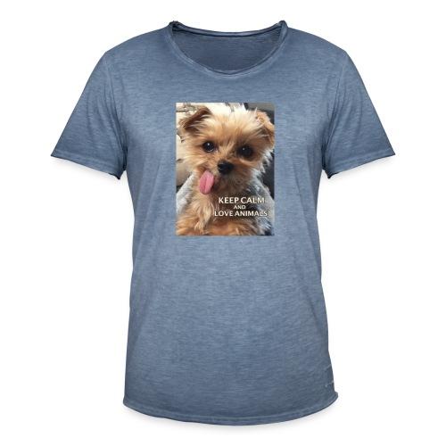 Dog - Männer Vintage T-Shirt