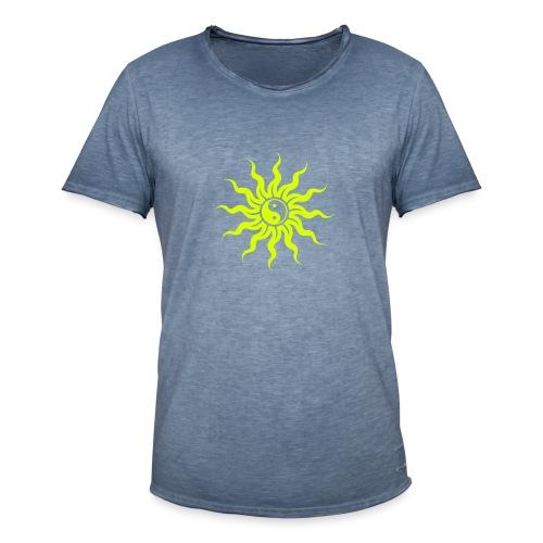 Yin Yang Sonne - Männer Vintage T-Shirt
