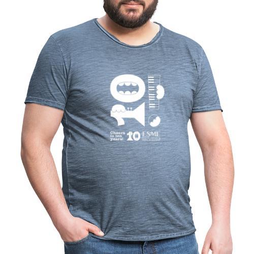 ESME Anniversary Simple Design Weiss - Männer Vintage T-Shirt