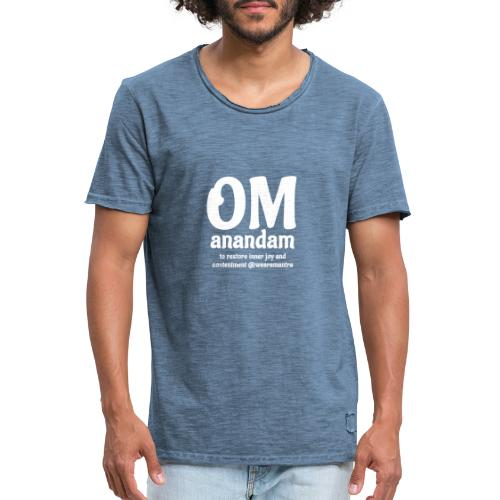 Om Anandam 2 white - Maglietta vintage da uomo