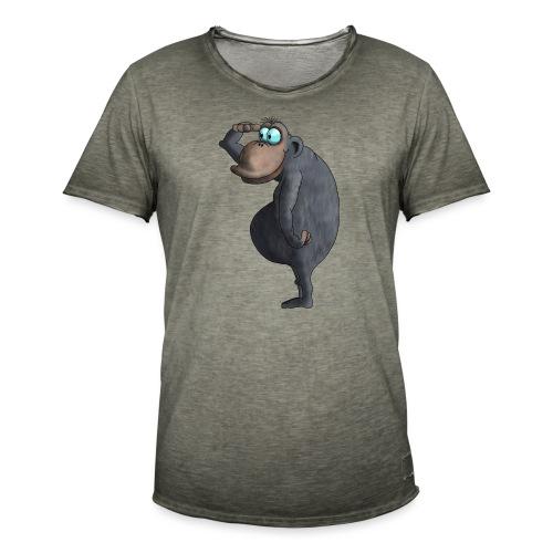cooler Affe - Männer Vintage T-Shirt