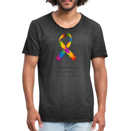 Inter-Mundos Autismus-Schleife - Männer Vintage T-Shirt