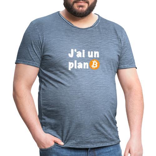 Plan Btc - T-shirt vintage Homme
