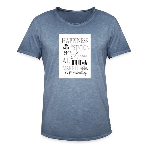 Travel Happy - Men's Vintage T-Shirt