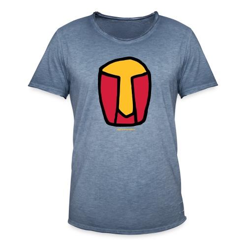 kopf abstrakt - Männer Vintage T-Shirt