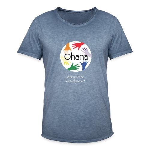 Logo mit weißem Text - Männer Vintage T-Shirt