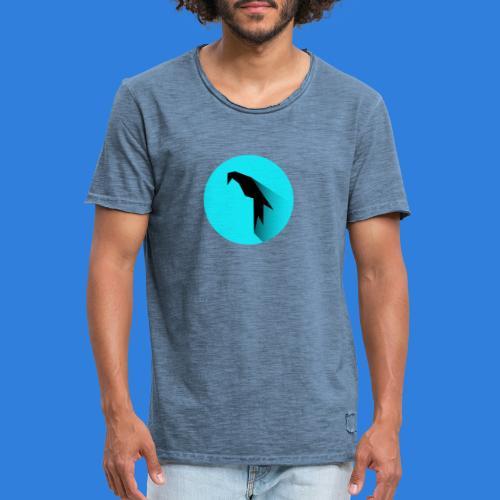 Parrot Logo + Prompt - Men's Vintage T-Shirt