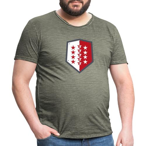 Wallis 1815 Valais - Männer Vintage T-Shirt