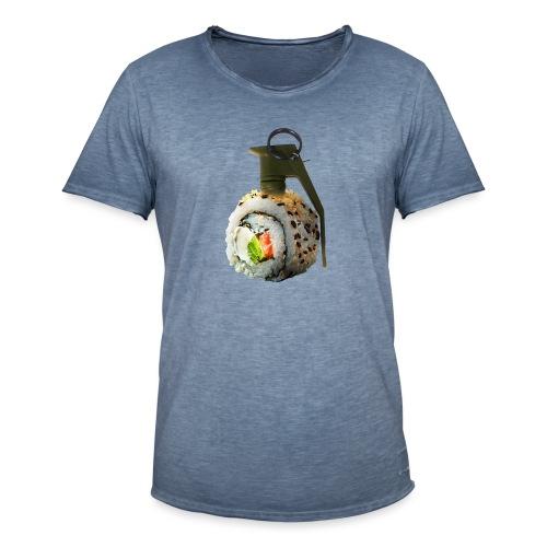 Sushi Bomb - Maglietta vintage da uomo