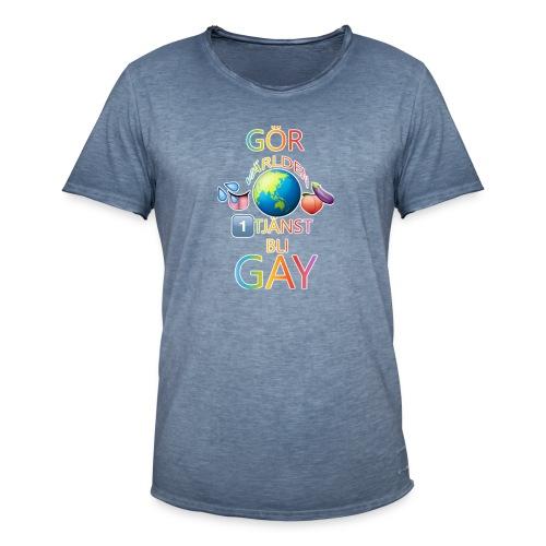 Gör Världen En Tjänst, Bli Gay LBGTQ+ - Vintage-T-shirt herr