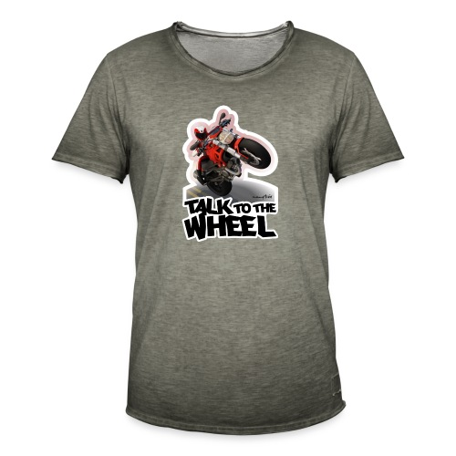 Ducati Monster Wheelie B - Camiseta vintage hombre
