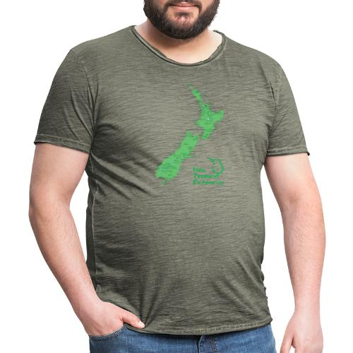 New Zealand's Map - Men's Vintage T-Shirt