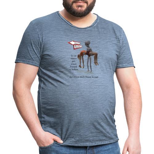 Grey Alien - Männer Vintage T-Shirt