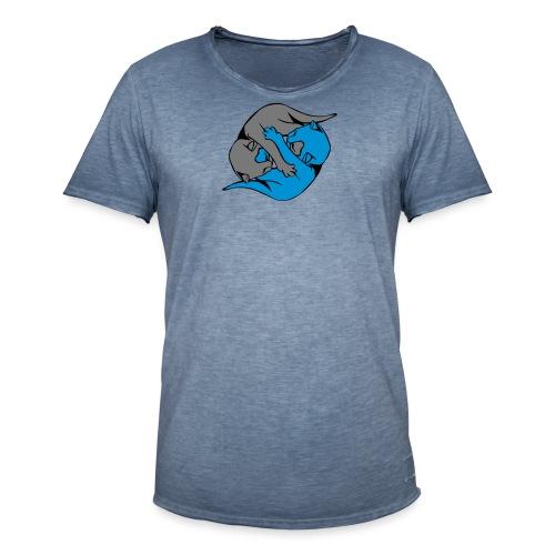 Yin and Yang Kitties - Men's Vintage T-Shirt