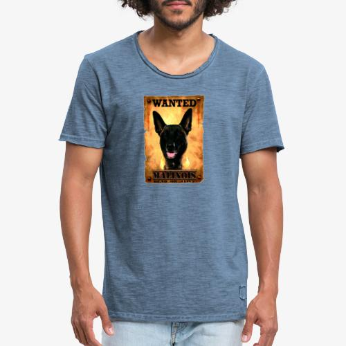 malinois wanted - T-shirt vintage Homme