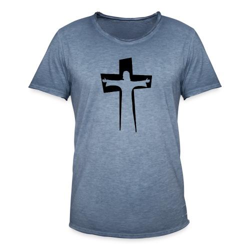 Abstrakt Jesus på korset - Vintage-T-shirt herr