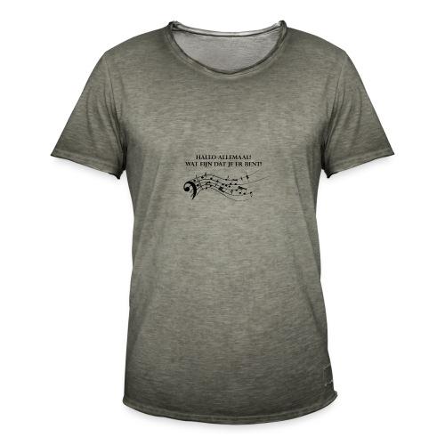 Hallo allemaal! - Mannen Vintage T-shirt