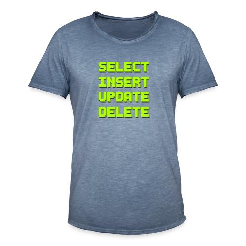 SQL pixelart black - Männer Vintage T-Shirt