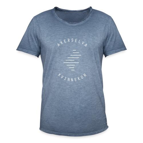 Akerselva kvinnekor hvit logo - Vintage-T-skjorte for menn