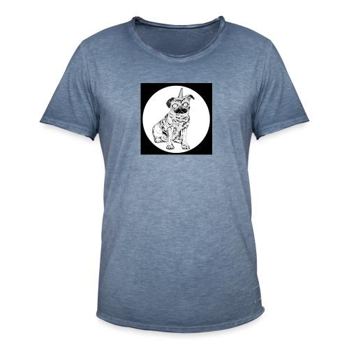 rysunek Pies-Jednorożec - Koszulka męska vintage